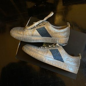 Opening Ceremony Silver Glitter Sneakers EUC